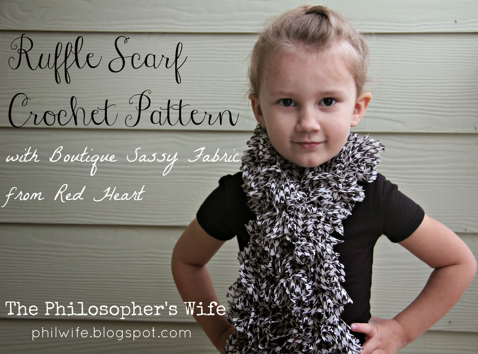 The Philosopher\'s Wife: Ruffle Scarf Crochet Pattern with Boutique ...