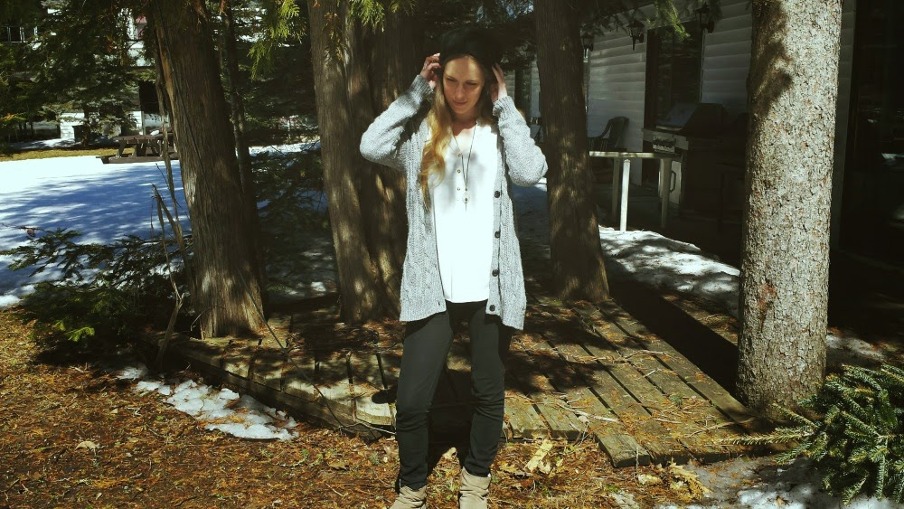 Transitional outfit - winter to spring