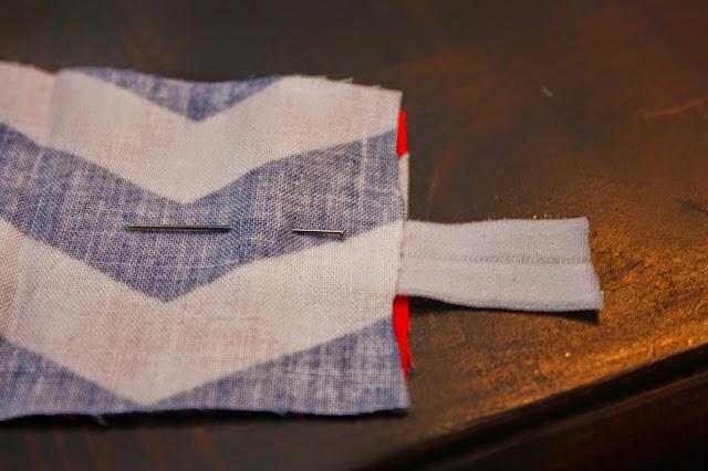 pin elastic to fabric headband