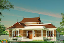 1188 Square Feet Mixed Roof House Keralahousedesign