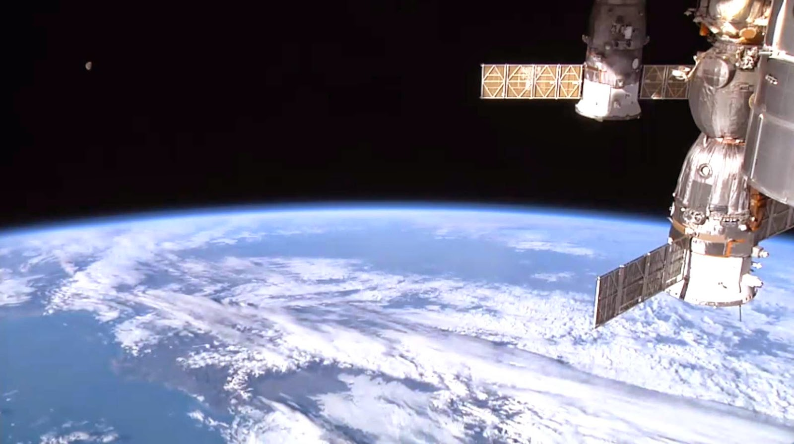 Image of the Earth from NASA Space Station from NASA live video feed [[slnc 1000]]