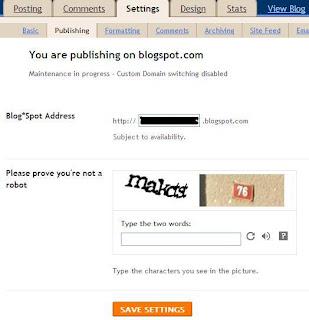 Eror Custom Domain Blogspot