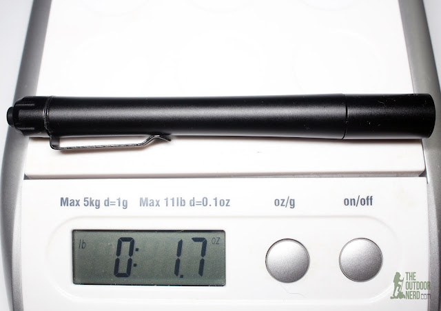 Thrunite Ti4 2xAAA Flashlight / Penlight - On Scale