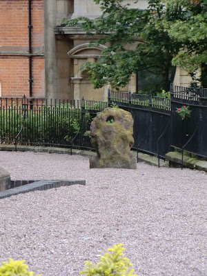Image: Bargain Stone in St Peter's Collegiate Church gardens, Wolverhampton