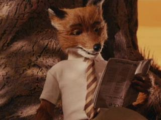 Mr. Fox reading in The Fantastic Mr. Fox animatedfilmreviews.blogspot.com