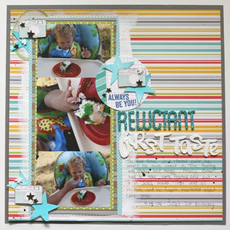 scrapbooking layout with paint