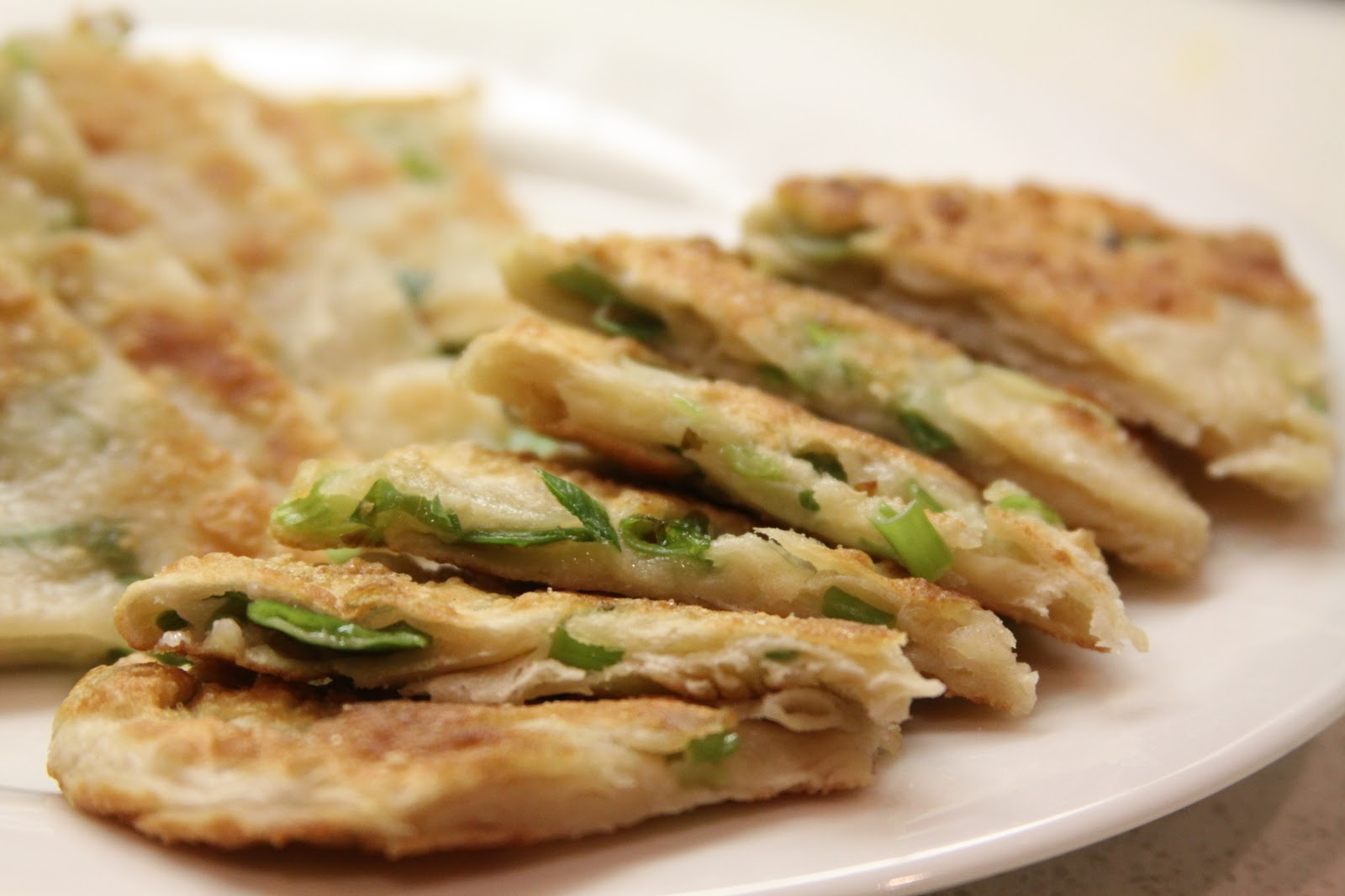 Scallion Pancakes with soy ginger dipping sauce :: Plate and Pour