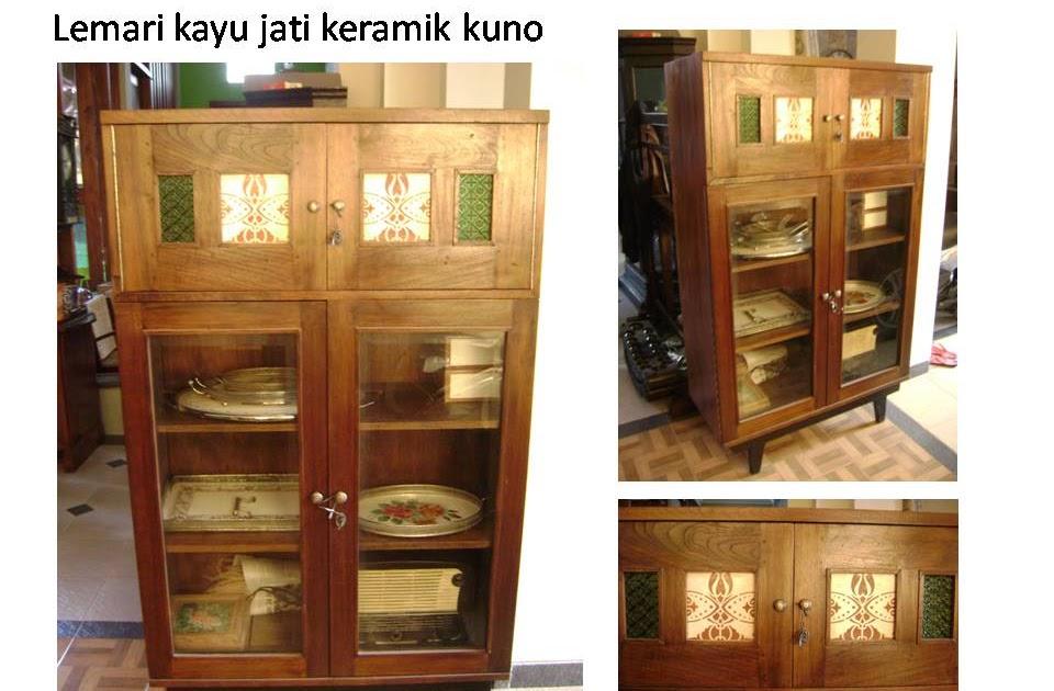 rumah antik 41 lemari jati keramik kuno