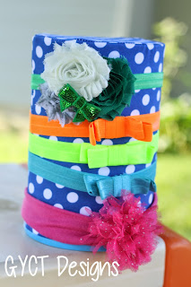 DIY Headband Tower