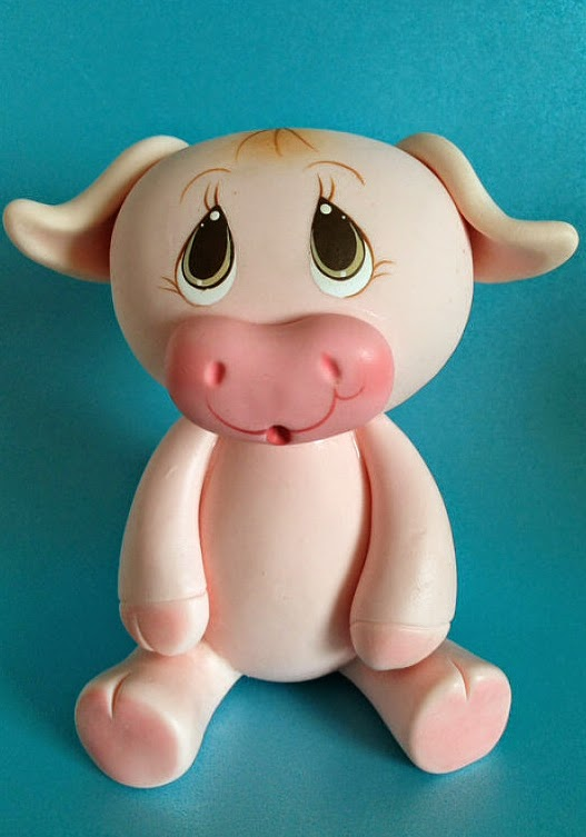 Jungle Safari Pig CakeTopper/Safari Theme Birthday/Diaper Cake Topper/Baby Shower