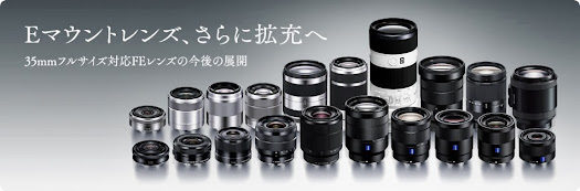 sony alpha nex full frame lens roadmap