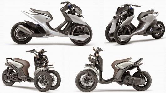Yamaha ra mắt cặp đôi Xe Ga Ba Bánh thể thao và cổ điển