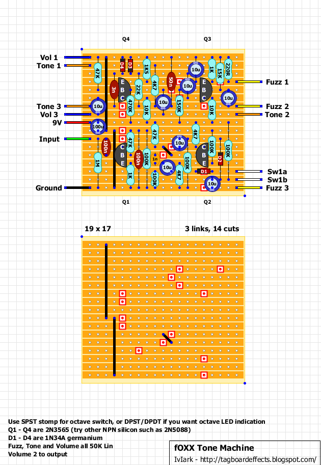 foxx tone machine schematic