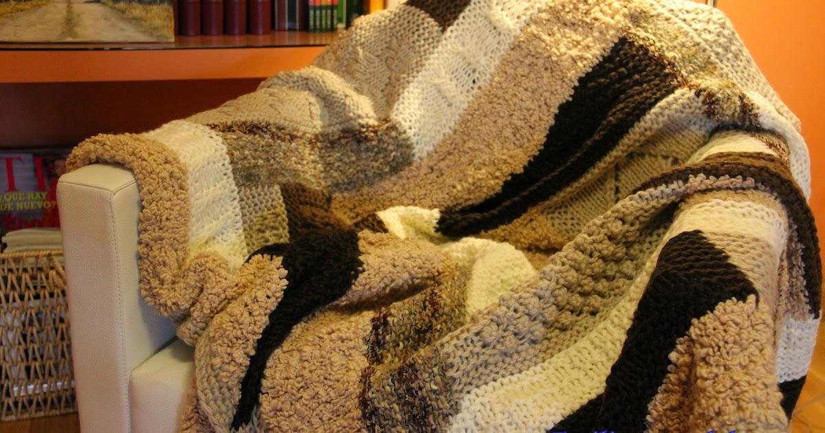 Emilia y sus labores manta de lana a punto de media - Labores de punto de lana ...