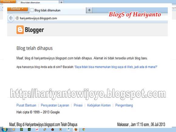 Maaf Blog Telah Dihapus