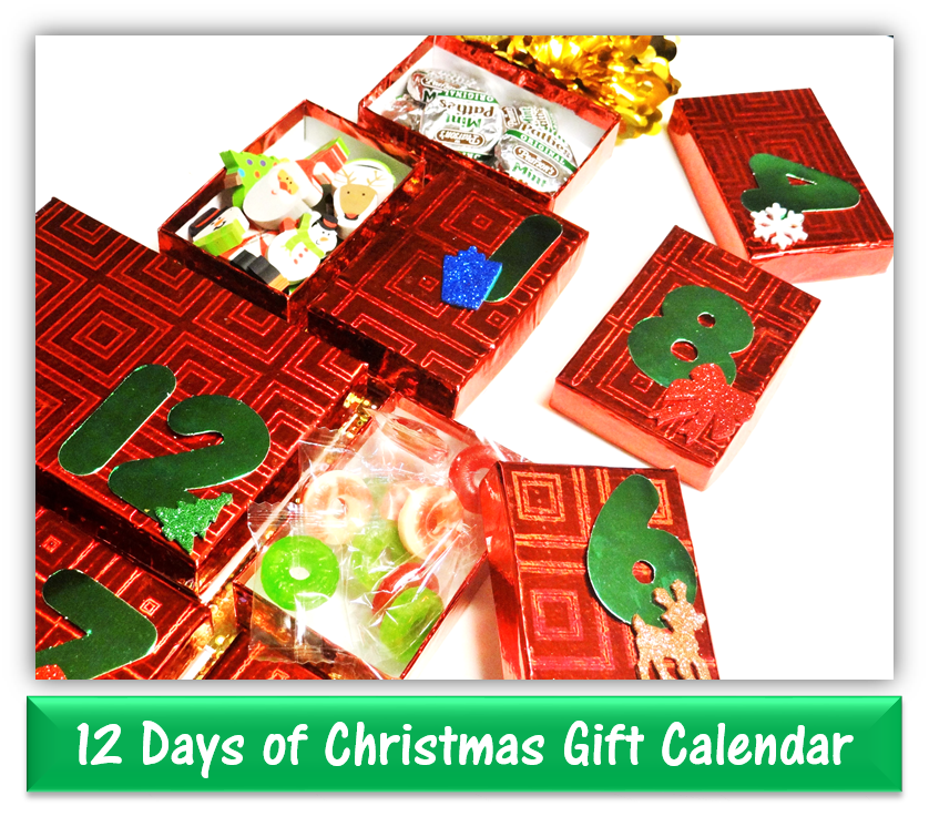 Dollar Tree Craft 12 Days Of Christmas Gift Calendar Diy