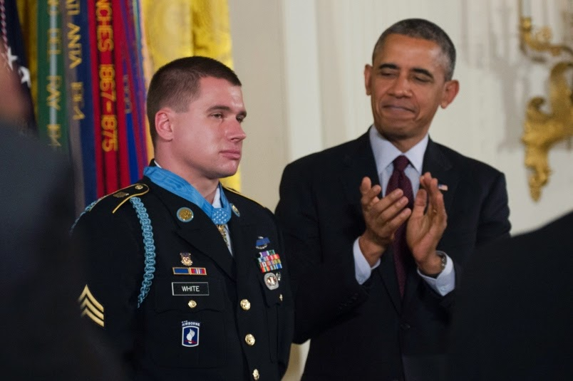 Military News - Bracelet outshines Medal of Honor at ceremony for Kyle White