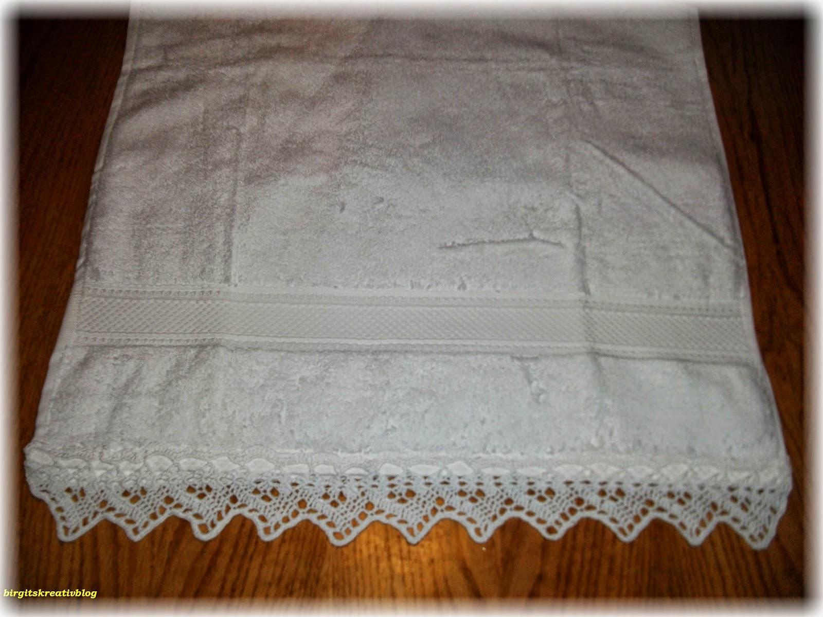 spitze häkeln für handtücher