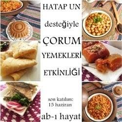 Çorum yemekleri     etkinliğimize davetlisiniz!
