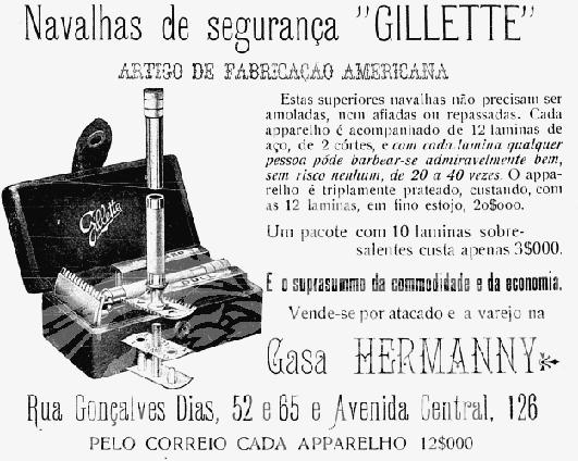 Apresentamos, diretamente de 1908, as lâminas de barbear da Gillete. Um rico e detalhado texto é apresentado