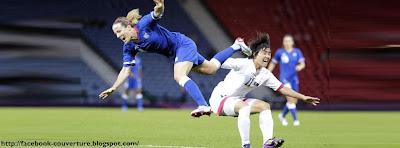 Couverture journal facebook football féminin français