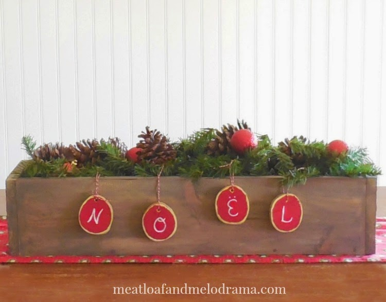 Meatloaf and melodrama rustic christmas centerpiece