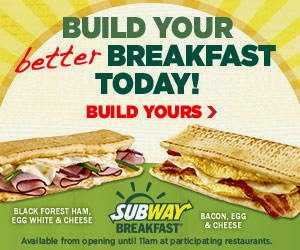 SubWay. A great breakfest