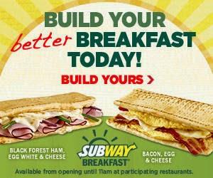 SubWay. A great breakfest