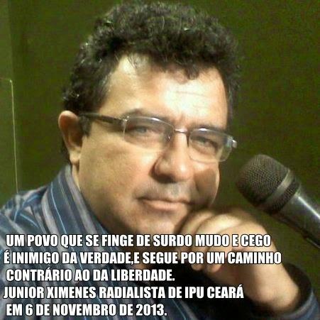 PENSAMENTO DE JUNIOR XIMENES