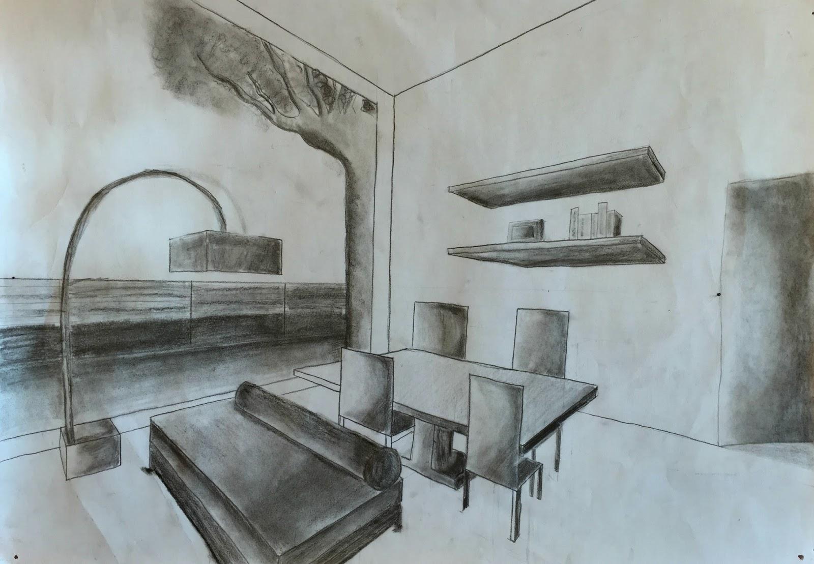 Tu propio l piz dibujo perspectiva for Comedor para dibujar