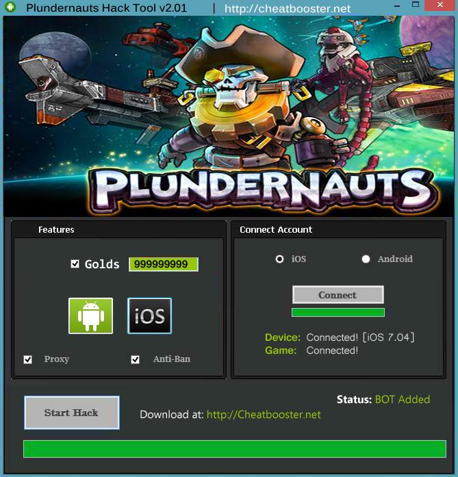PlunderNauts Hack Golds