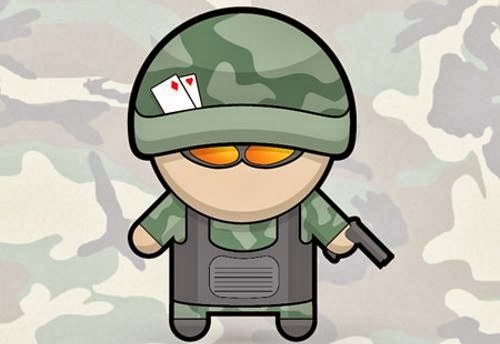 Vector Soldier Character in Illustrator
