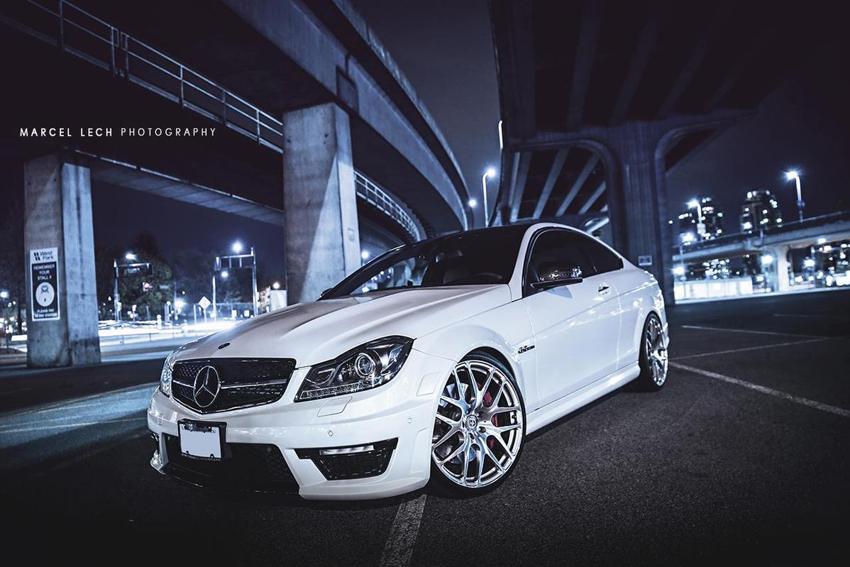 mercedes benz w204 c63 amg coupe on hre performance rims benztuning. Black Bedroom Furniture Sets. Home Design Ideas