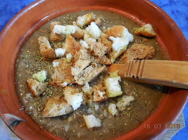 supa crema de linte verde