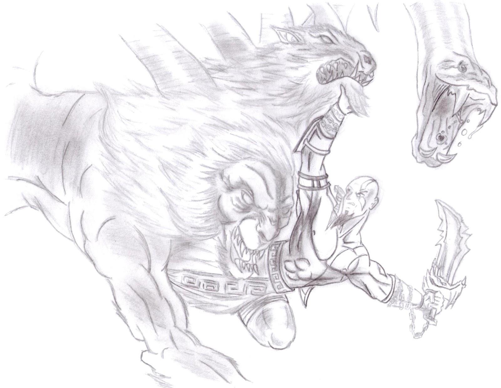 dibujos de kratos