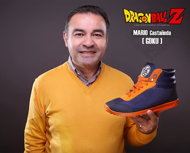 Mario Castañeda, zapatillas oficiales Dragon Ball Heredia Clothing