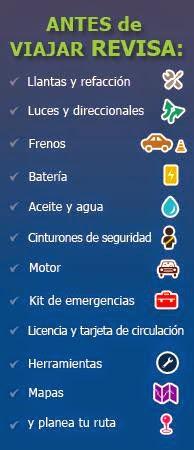 Antes de Viajar en carretera tips para revisar el automovil y viajar seguro