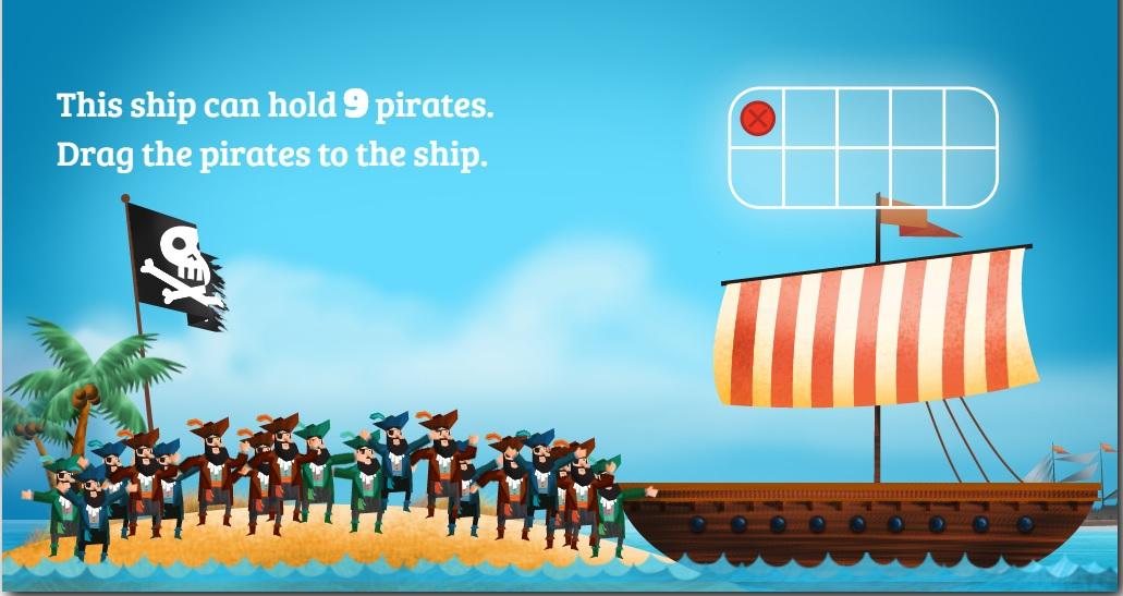 Completa los piratas que faltan