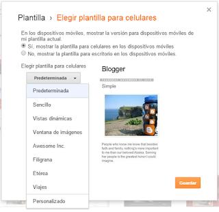 ¿Cómo habilitar las plantilla móvil de mi blog de Blogger?