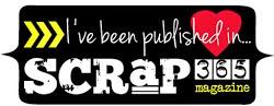 Jag har publicerats i Scrap365 Juni/juli 2014