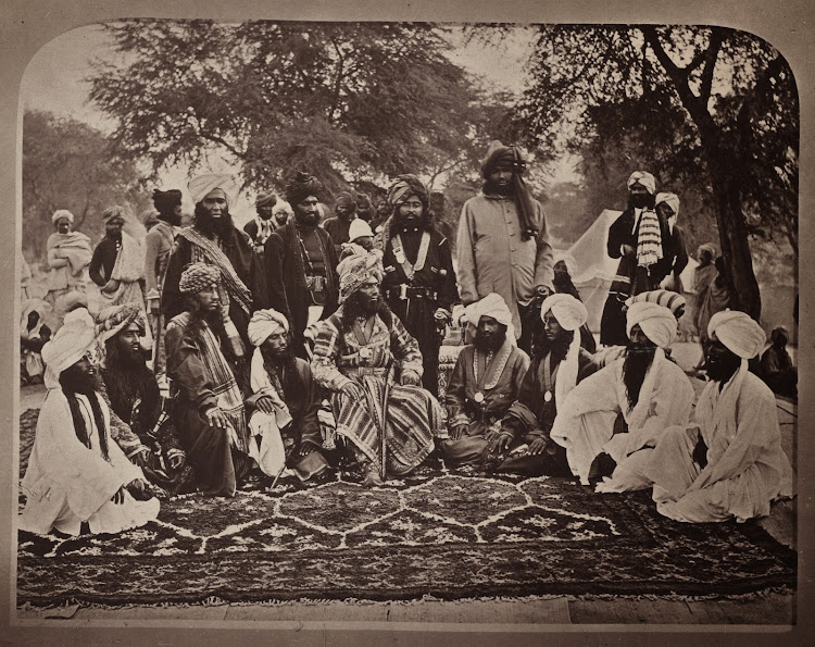 Chiefs and Ministers of Indian Princely State Khanate of Kalat - 1877