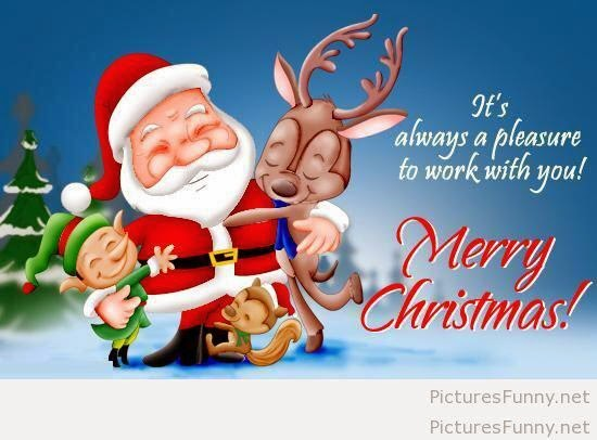 it's always a pleasure to work with you! merry christmas!. - #merrychristmas,#Santaclaus #reindeer #christmaself