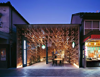 Starbucks, Kengo Kuma, Fukuoka, Japan