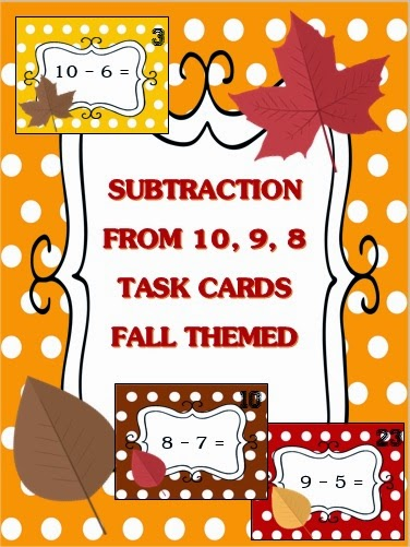 http://www.teacherspayteachers.com/Product/Subtraction-Facts-Task-Cards-Fall-Themed-1518511