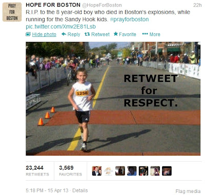 Fake photo of Boston bombing victim (boy)