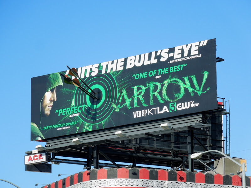 Arrow season 1 Bullseye billboard installation