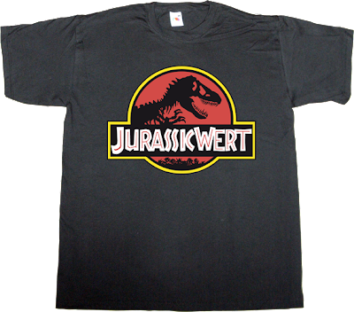 jurassic Park movie wert useless spanish politics useless copyright useless patents obsolete t-shirt ephemeral-t-shirts pp partido popular