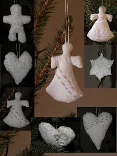 Varrott karácsonyfa díszek