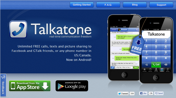 Talkatone for Android and PC