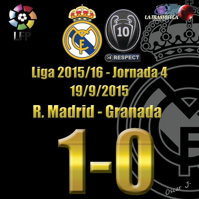Real Madrid 1 - 0 Granada - Liga 2015/16 - Jornada 4 - (19/9/2015)